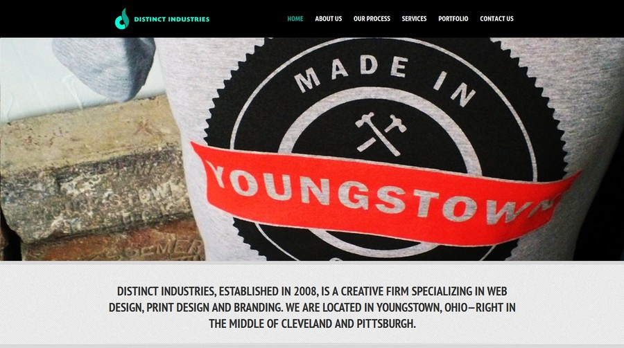 A great web design by Distinct Industries, Youngstown, OH: