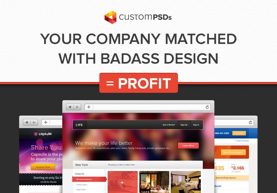 A great web design by CustomPSDs.com, New York, NY: