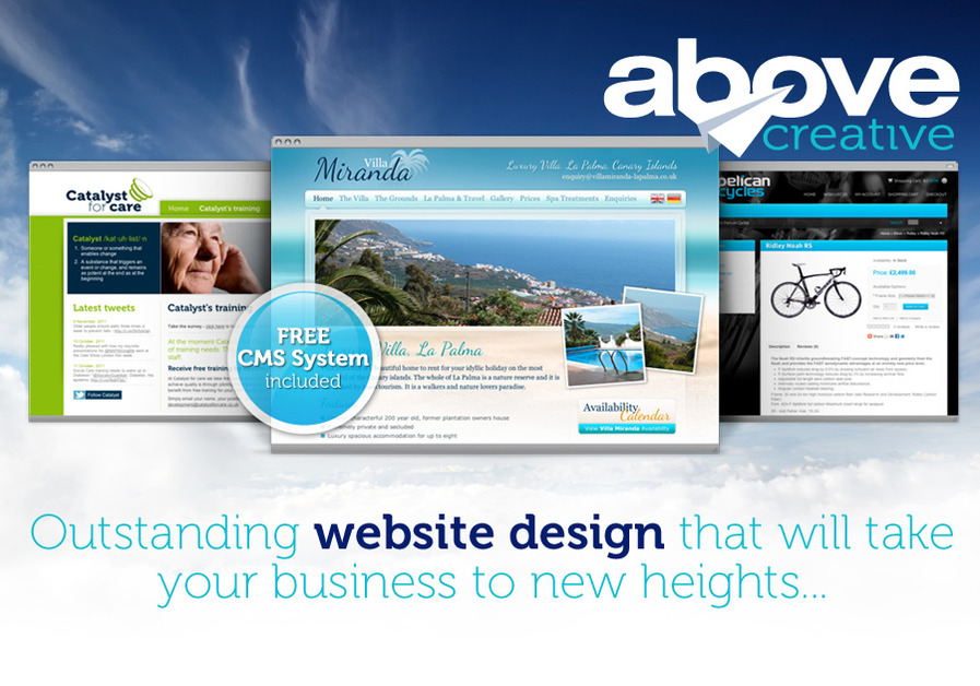 A great web design by Above Creative, Sheffield, United Kingdom: