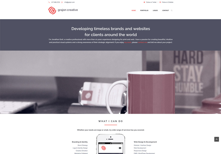 A great web design by Grajon Creative, Dallas, TX: Responsive Website, Portfolio , Marketing , Wordpress