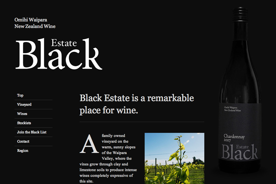 A great web design by Sons & Co., Christchurch, New Zealand: