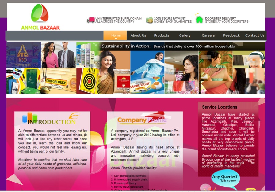 A great web design by Novel Knett Software Solutions, New Delhi, India: