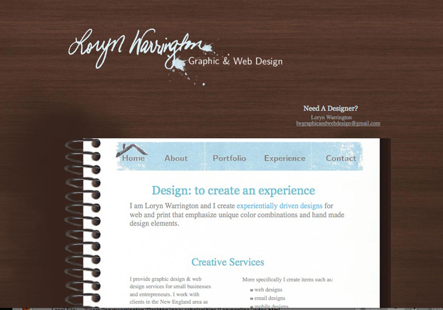 A great web design by LW graphic and web design, Boston, MA: