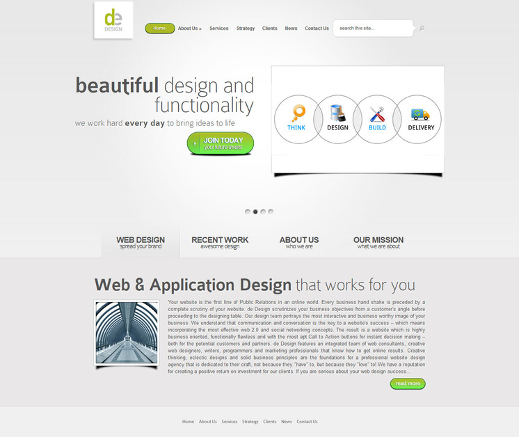 A great web design by de Design, New York, NY: