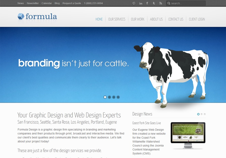 A great web design by Formula Design, San Francisco, CA: