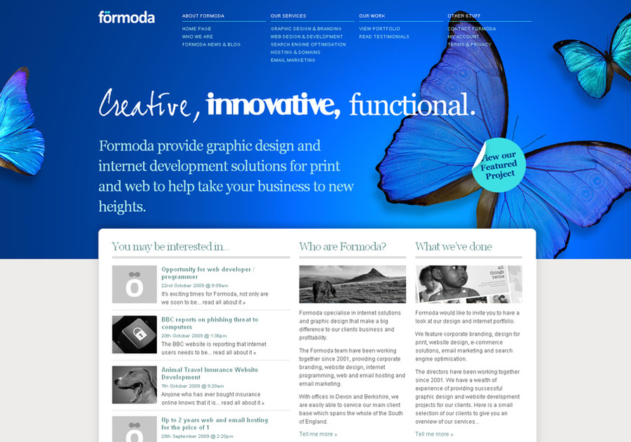 A great web design by Formoda, London, United Kingdom:
