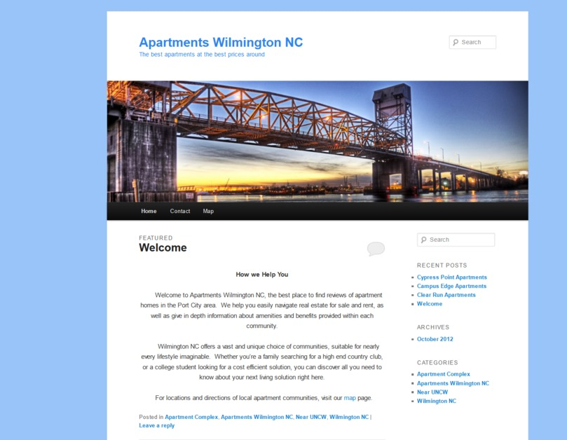 A great web design by Apartments Reviews Wilmington, Wilmington, NC: