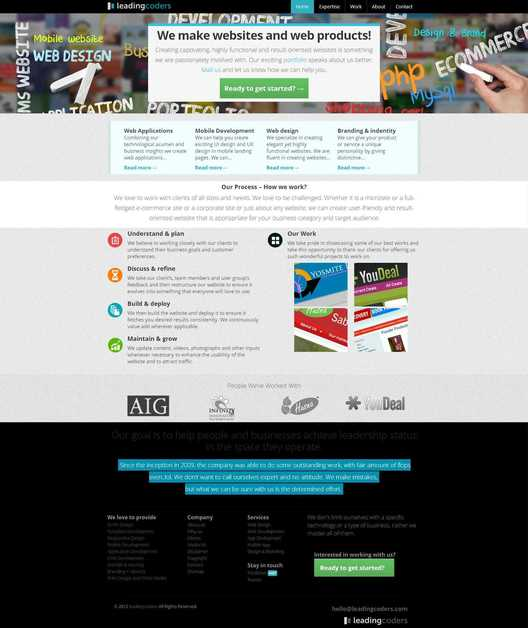 A great web design by Leadingcoders, Chennai, India: