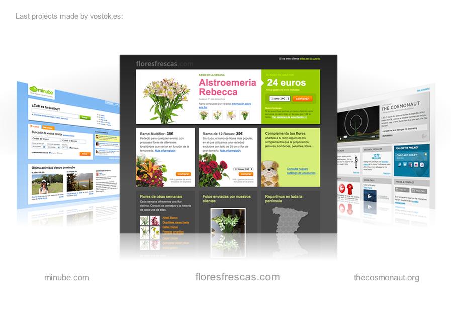 A great web design by Vostok.es, Madrid, Spain: