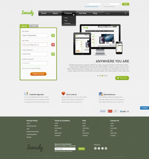 A great web design by Ivan Tolmachev, Moscow, Russia: