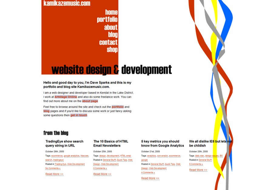 A great web design by Dave Sparks - Freelance, Eden, United Kingdom: