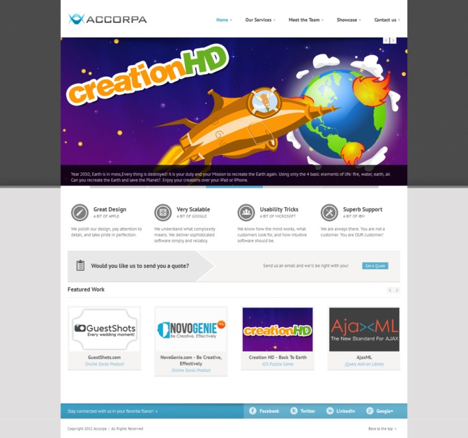 A great web design by Accorpa, Alexandria, Egypt: