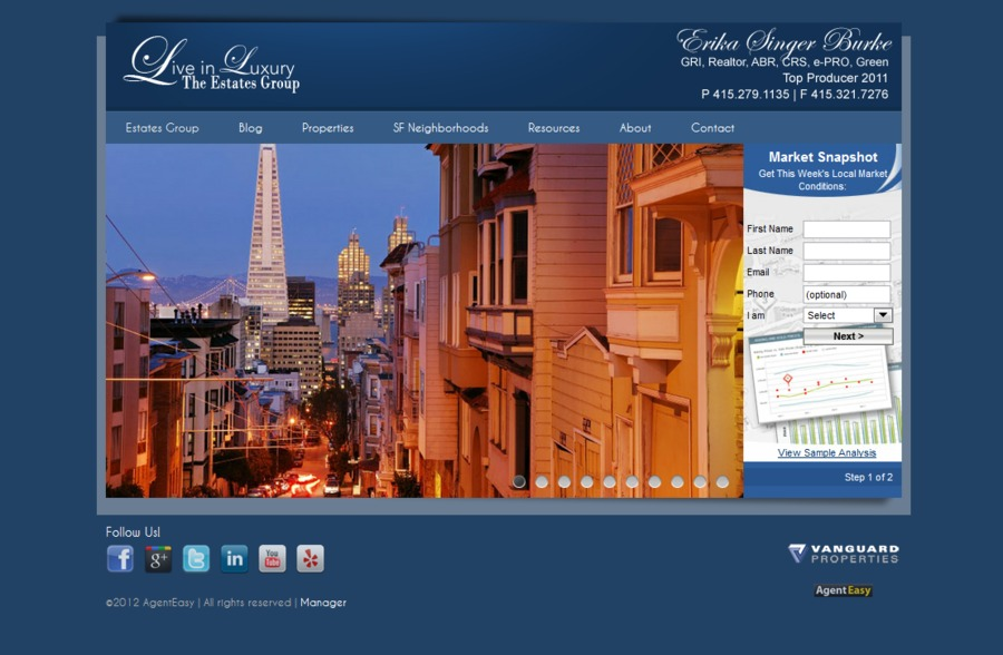 A great web design by Baycentric, San Francisco, CA: