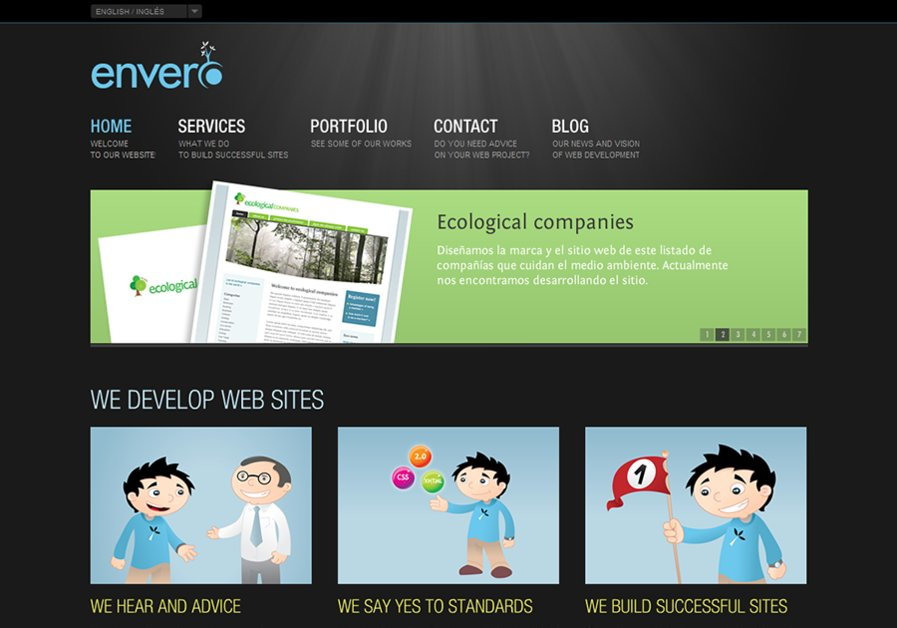 A great web design by envero, Mendoza, Argentina:
