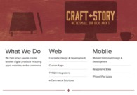 A great web design by CRAFT+STORY: Responsive Website, Portfolio , PHP