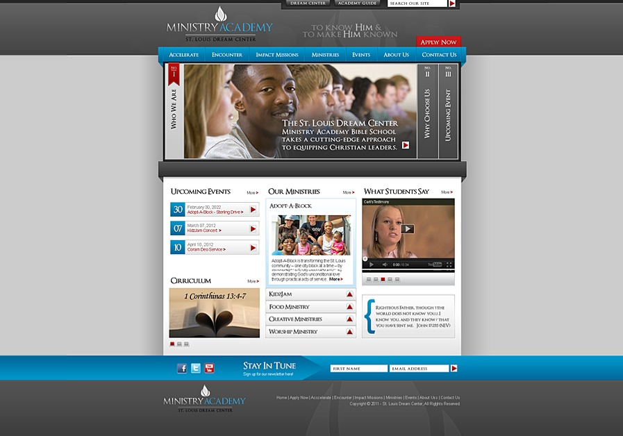 A great web design by Studio C5, LLC, St Louis, MO: