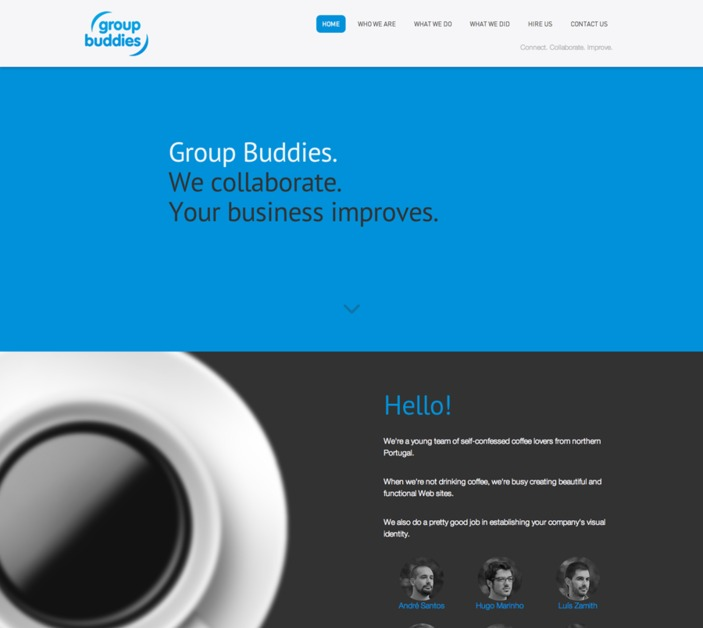 A great web design by Group Buddies, Braga, Portugal: