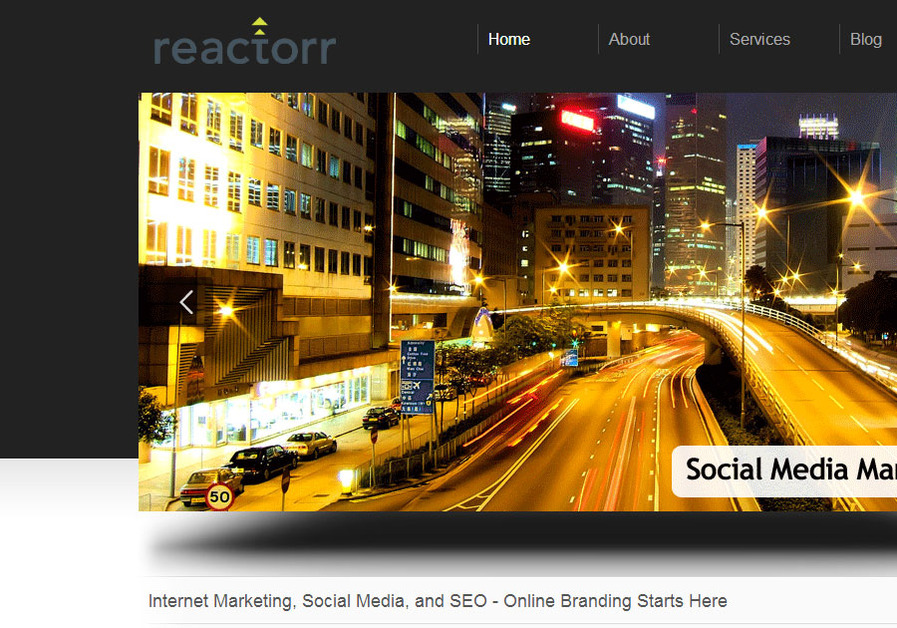 A great web design by reactorr, Vancouver, Canada: