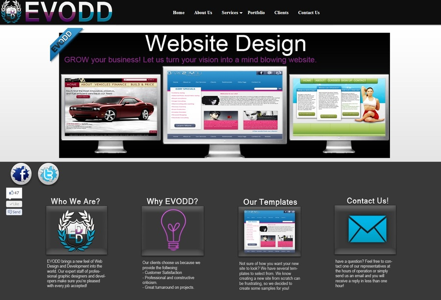 A great web design by EVODD, New York, NY: