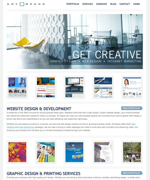 A great web design by Art Space, Dallas, TX:
