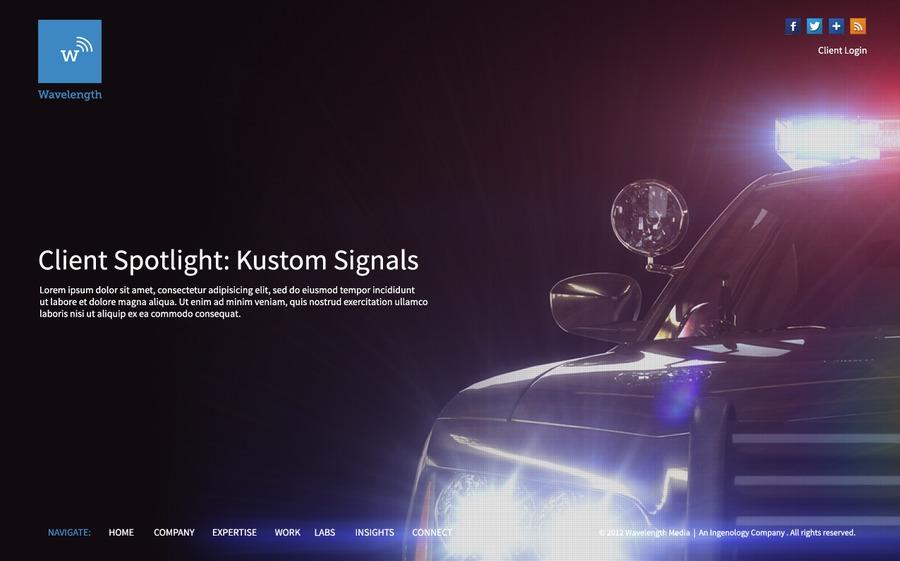 A great web design by Wavelength, Kansas City, MO: