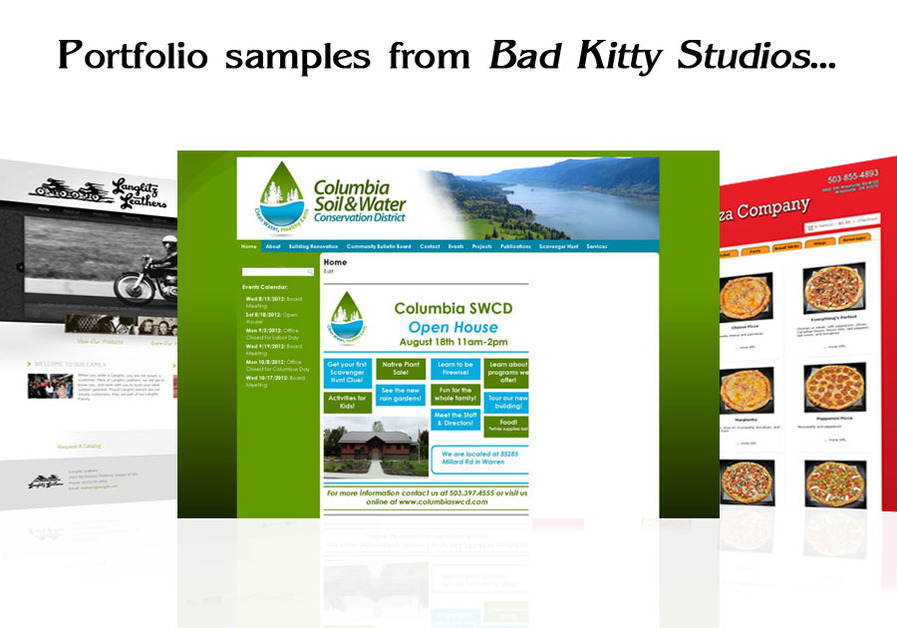 A great web design by Bad Kitty Studios, Portland, OR: