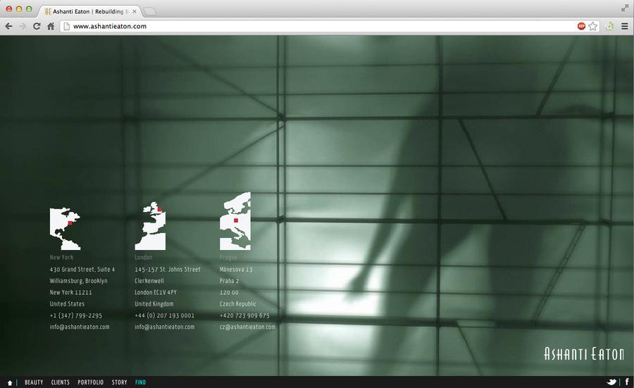 A great web design by Ashanti Eaton, New York, NY: