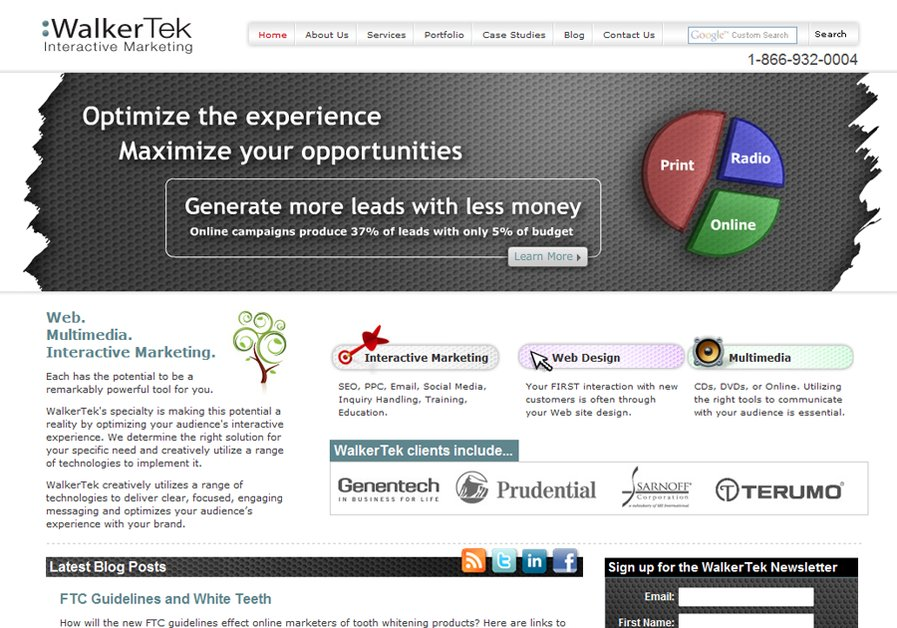 A great web design by WalkerTek Interactive Marketing, New York, NY: