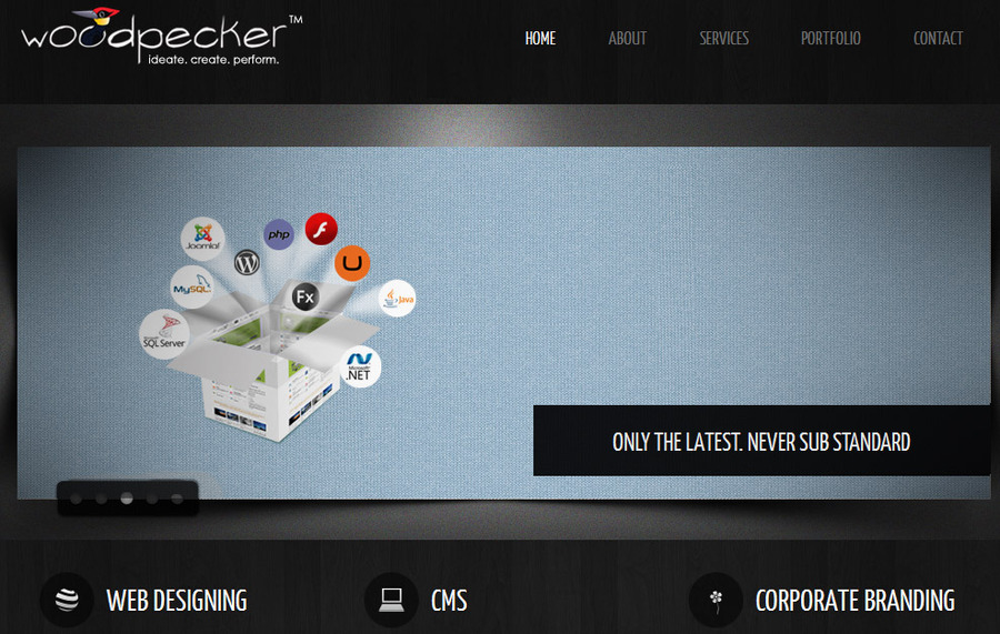 A great web design by Woodpecker Digital, Cochin, India: