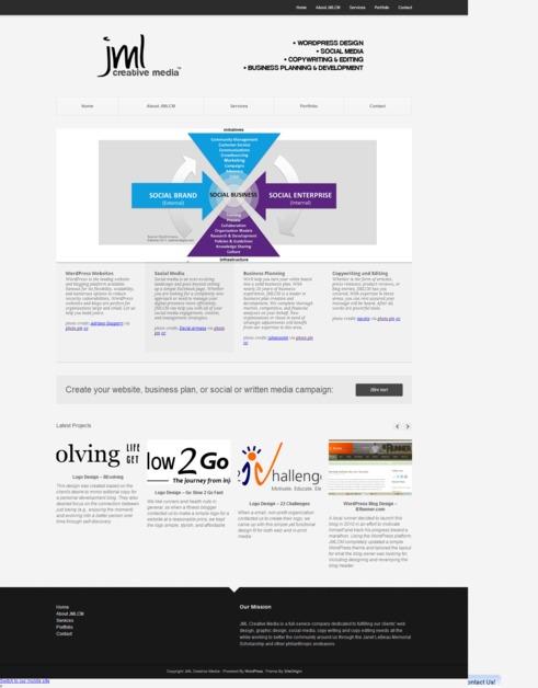 A great web design by JML Creative Media, Los Angeles, CA: