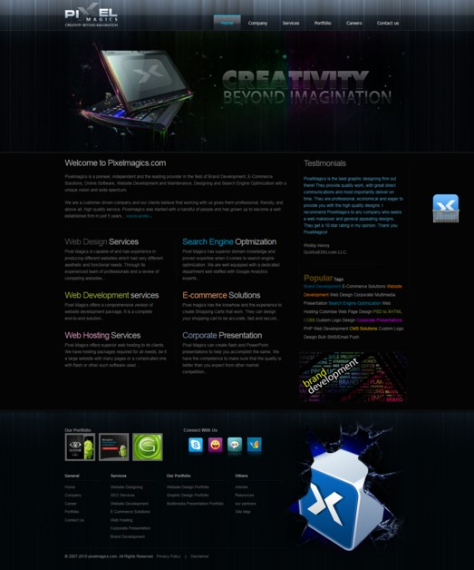 A great web design by PixelMagics, New Delhi, India: