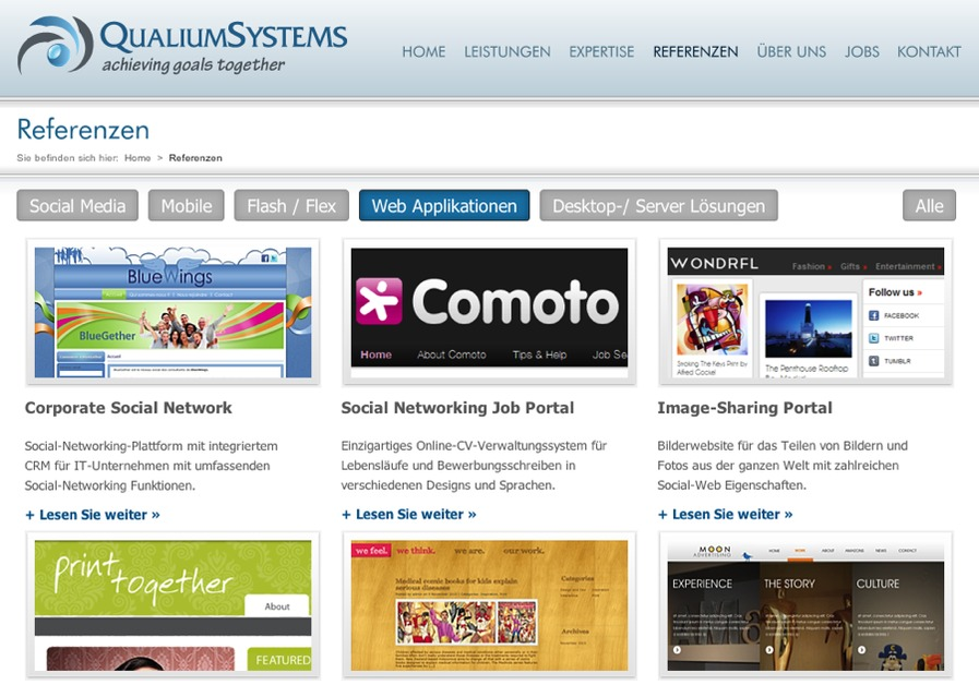 A great web design by Qualium Systems GmbH & Co. KG, Bonn, Germany: