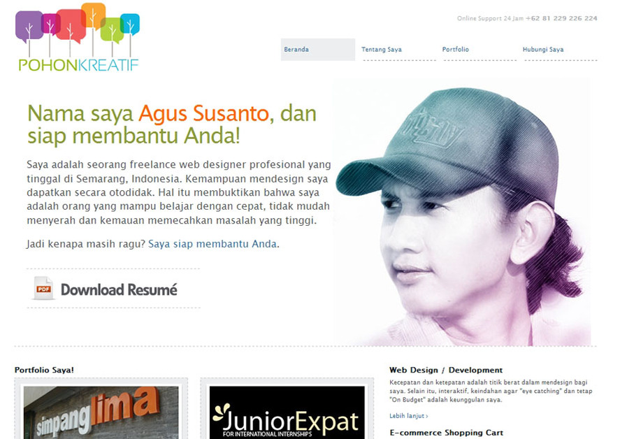 A great web design by Pohon Kreatif, Semarang, Indonesia: