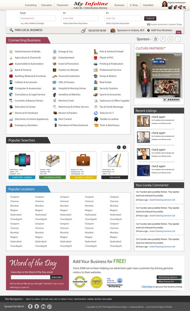 A great web design by SARVATMAN TECHNOLOGIES, Indore, India: