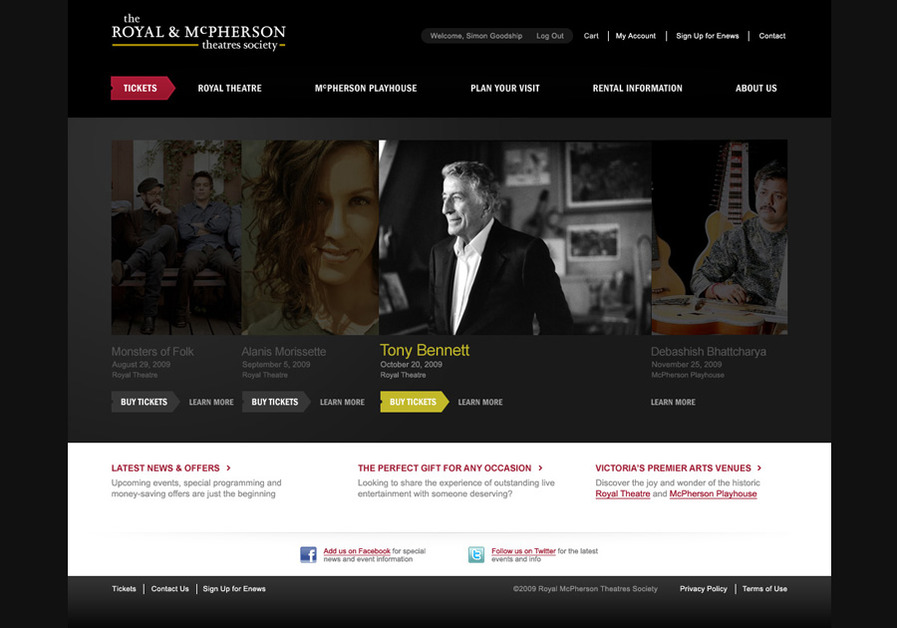A great web design by Drew Pickard, Designer, Seattle, WA: