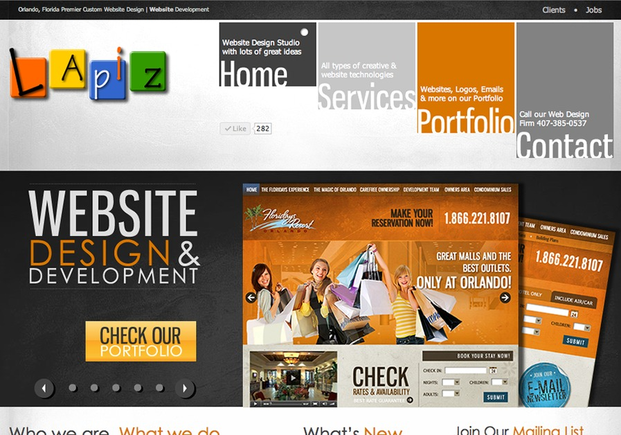 A great web design by LAPIZ Design, Orlando, FL: