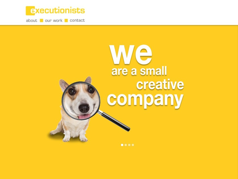 A great web design by Executionists Inc., Los Angeles, CA: