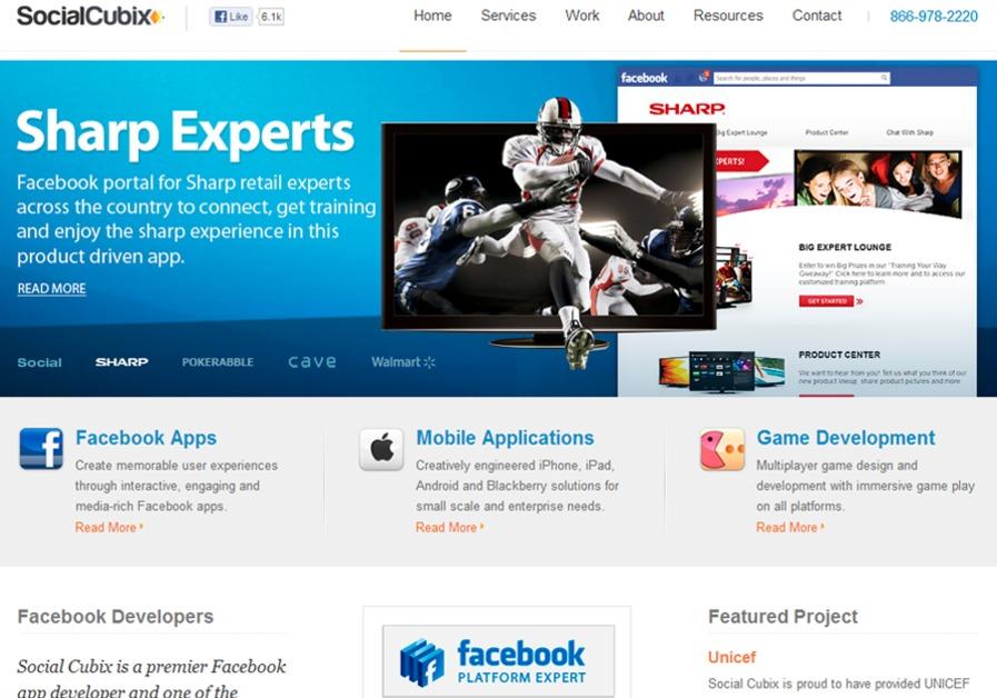 A great web design by Social Cubix, Washington DC, DC: