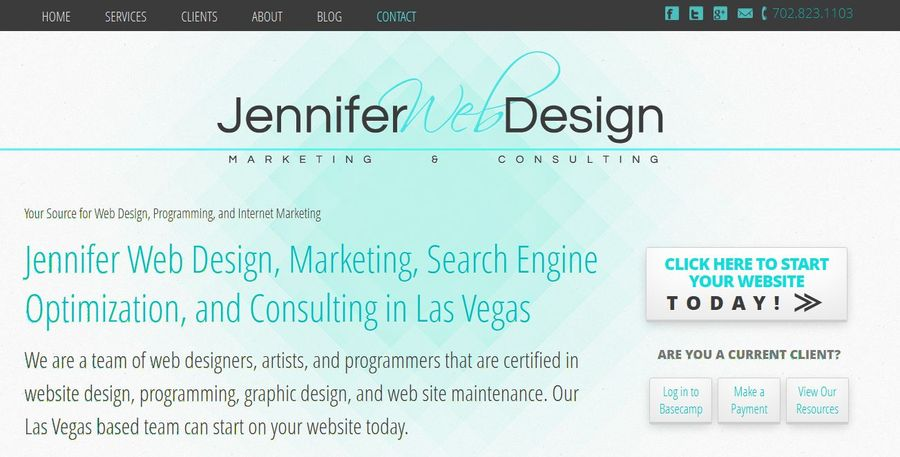 A great web design by Jennifer Web Design, Las Vegas, NV: