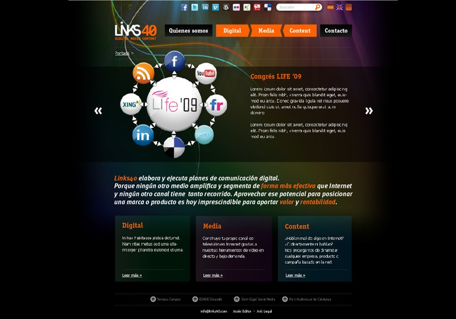 A great web design by Links40, Barcelona, Spain: