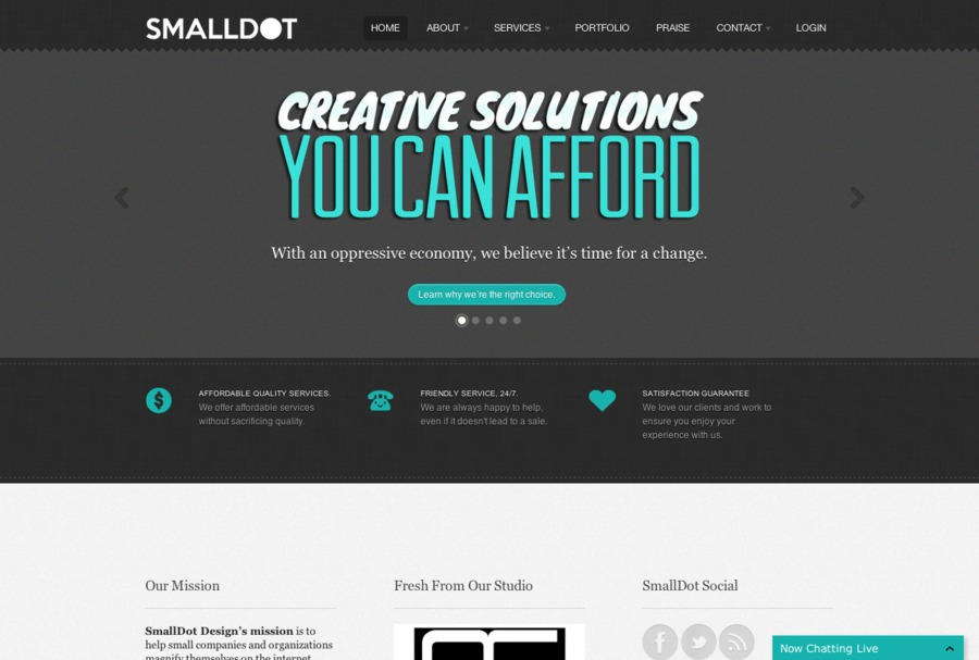 A great web design by SmallDot Design, Salt Lake City, UT: