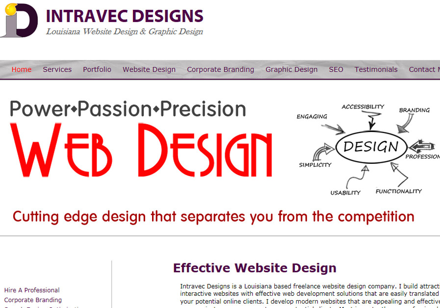 A great web design by Intravec Designs, Shreveport, LA: