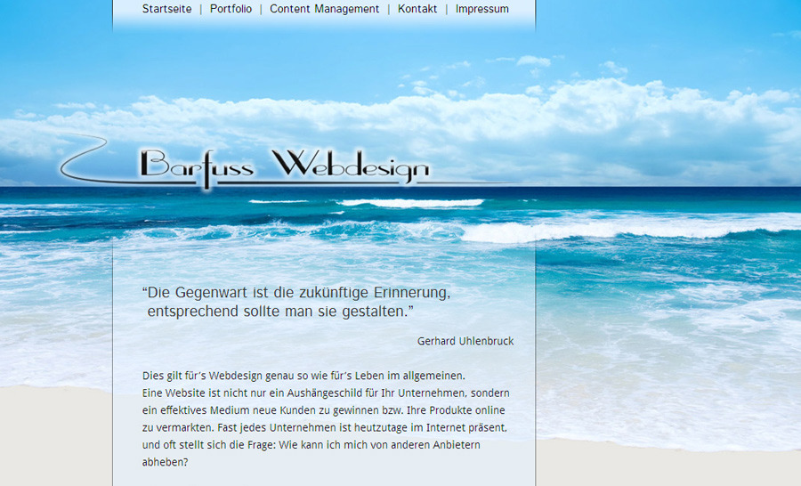 A great web design by Barfuss Webdesign, Brandenburg, Germany: