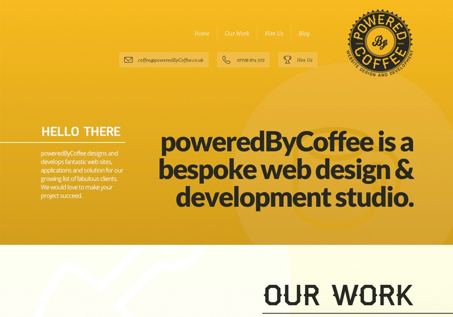 A great web design by poweredByCoffee - Website design and development, Glasgow, United Kingdom: