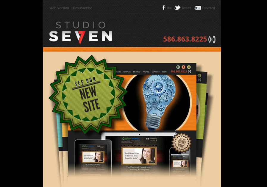 A great web design by Studio 7, Royal Oak, MI:
