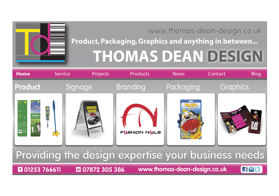 A great web design by Thomas Dean Design, Manchester, United Kingdom: