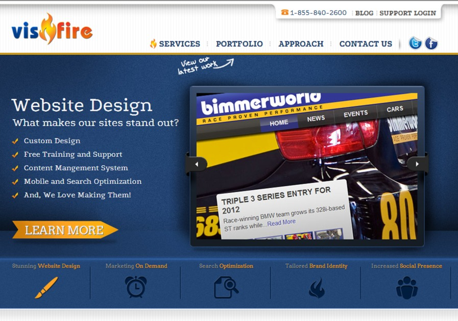 A great web design by VisFire, Atlanta, GA: