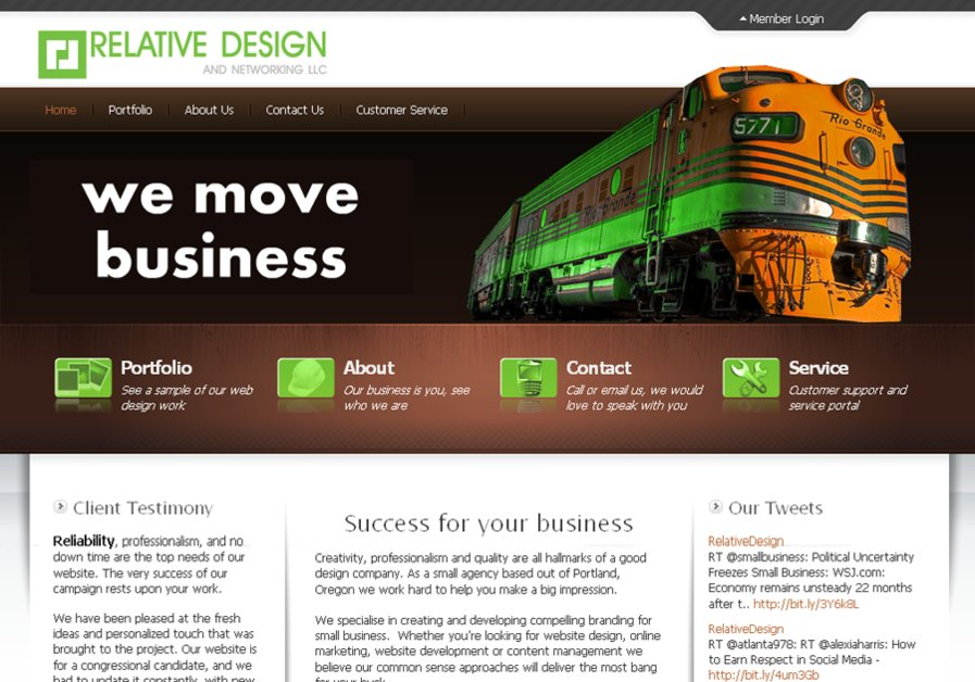 A great web design by Relative Design, Portland, OR: