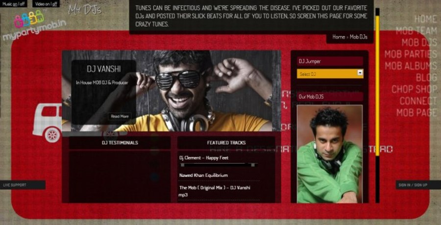 A great web design by PredSolutions.com, Mumbai, India: Responsive Website, Social/Community , Entertainment , PHP
