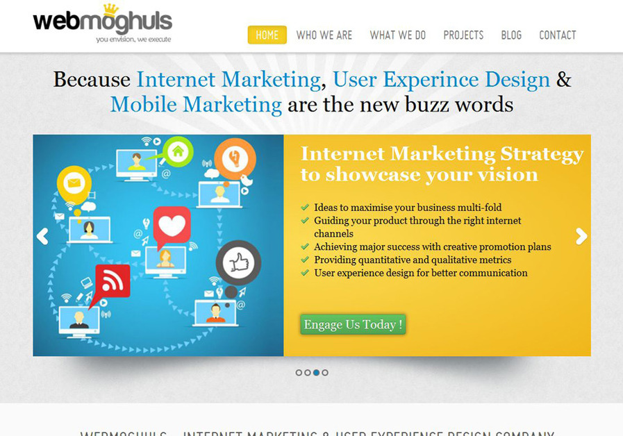A great web design by Webmoghuls, Kolkata, India: